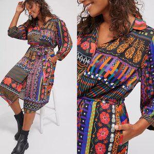 NWT FARM Rio Ciela Belted Midi Shirtdress size MP